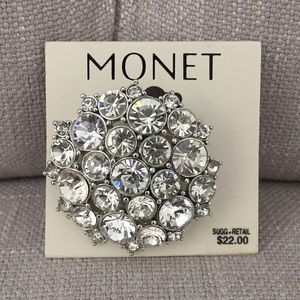 Monet Rhinestone Brooch